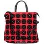 """Сумка женская """"Leigthon"""", цвет: черный, красный. 73338-256/17/80/2010"""