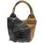 """Сумка женская """"Leighton"""", цвет: коричневый, черный. 39097-39092"""