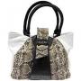 """Сумка женская """"Leighton"""", цвет: белый, коричневый, черный. 53780-2131/YB"""