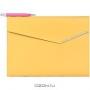 Папка с шариковой ручкой, цвет: желтый