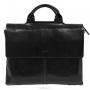 """Портфель мужской """"Edmins"""", цвет: черный. 1282 А-1 GL black"""