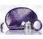 Женская косметичка с зеркальцем (фиолетовая)