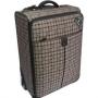 Вместительный чемодан цвета хаки в клетку