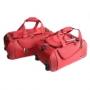 Чемодан-тележка на колесах красного цвета